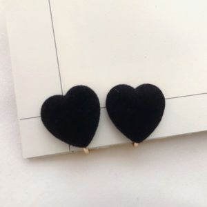 Clip on earring heart earring